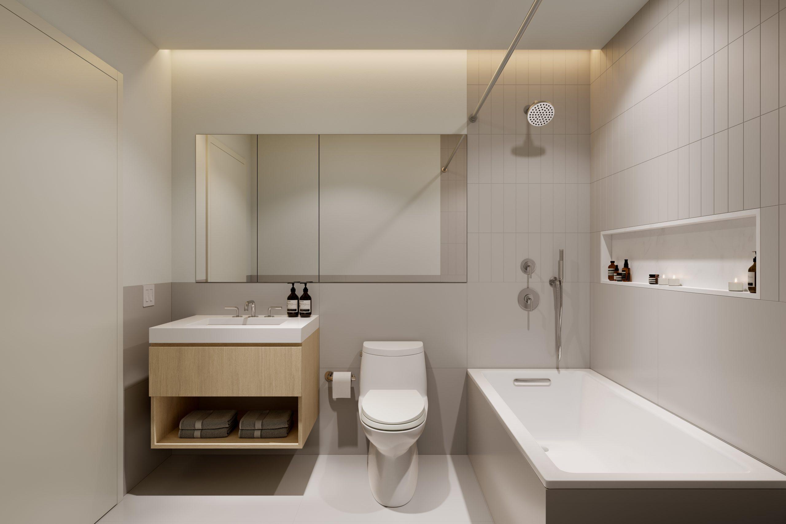 413 E 50th St Master Bathroom