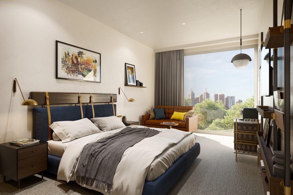 South Melbourne Hotel - Bedroom