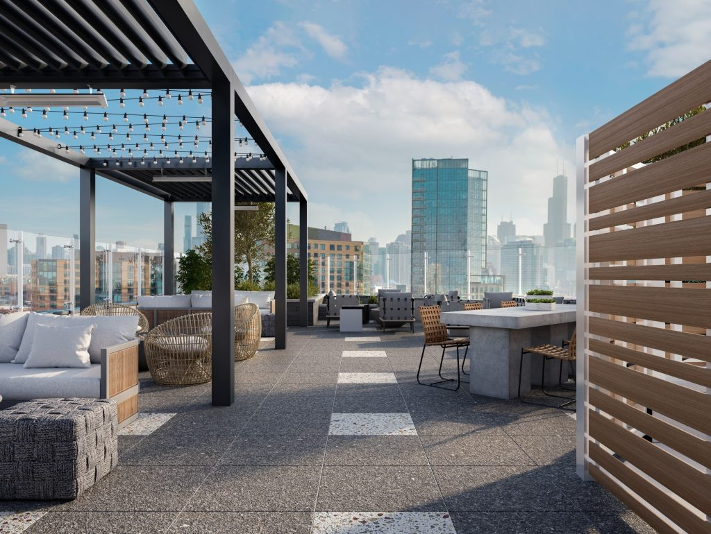 1122 W Chicago Avenue - Rooftop terrace