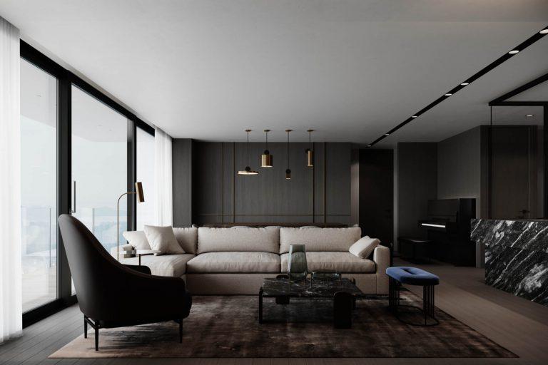 Shenzhen City Apartment Living Room